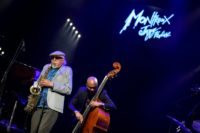 Legendary American jazz musician Charles Lloyd, who headlined the first festival in Montreux in 1967 performs on stage at the opening of the 50 edition of the Montreux Jazz Festival on June 30, 2016