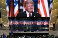 US Republican presidential candidate Donald Trump speaks on the last day of the Republican National Convention in Cleveland, Ohio