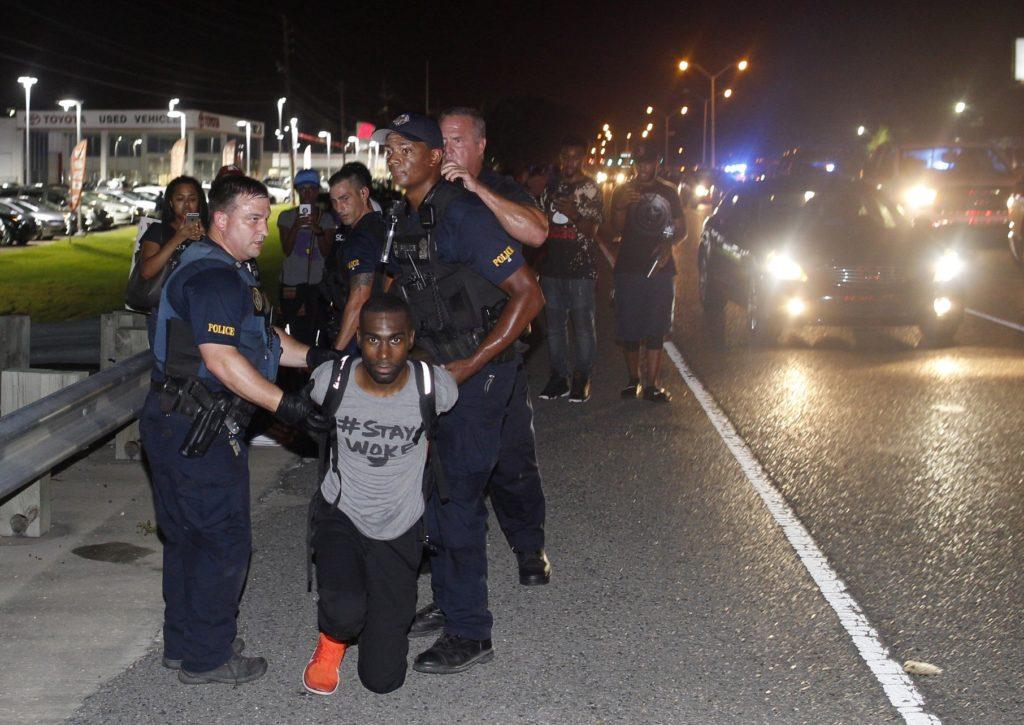 black lives matter activist arrested at baton rouge protest breitbart