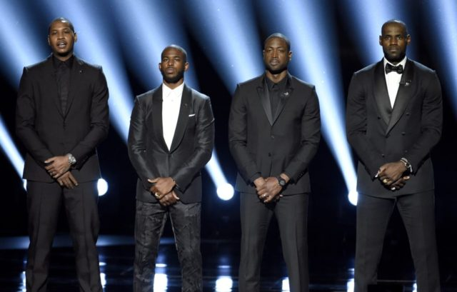 Carmelo Anthony, Chris Paul, Dwyane Wade, LeBron James