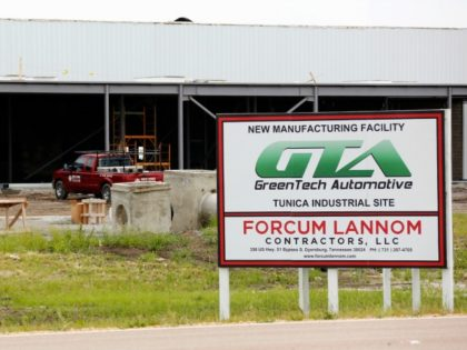 In this May 13, 2014 photo, supplies sit at the GreenTech Automotive's plant in Tunica, Miss. GreenTech Automotive is renegotiating its incentive deal with the state of Mississippi after state officials say the electric-vehicle maker failed to meet its 350-job employment target at its Tunica County, Miss., plant.