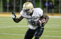 Baylor wide receiver Ishmael Zamora runs the ball during a NCAA college football intrasquad scrimmage Friday, March 20, 2015, in Waco, Texas. (AP Photo/Tony Gutierrez)