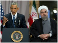 Iran: In this photo released by official website of the office of the Iranian Presidency, President Hassan Rouhani attends an interview with state-run TV on Tuesday, Aug. 2, 2016. (Iranian Presidency Office via AP) Obama: President Barack Obama speaks about the nuclear deal with Iran, Wednesday, Aug. 5, 2015, at …