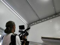 Camerman films bullet holes Rio Reuters