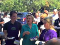 Hillary Clinton Refuses Questions, Offers Candy to the Press After Anti-Breitbart Speech