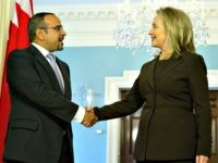 Clinton and Crown Prince Bahrain AFP