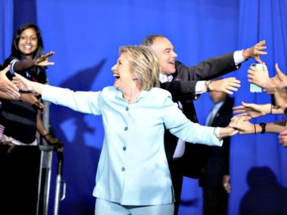 Clinton and Kaine Andrew Harnick AP