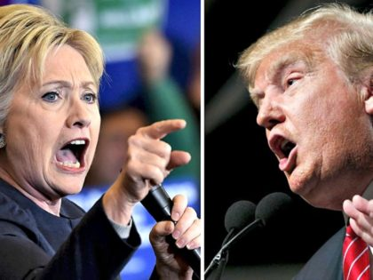 Clinton and Trump Yelling Reuters