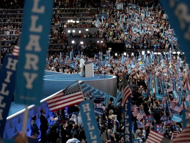 PHILADELPHIA, PA - JULY 28: on the fourth day of the Democratic National Convention at the Wells Fargo Center, July 28, 2016 in Philadelphia