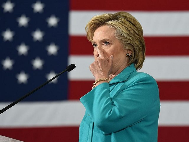 Democratic presidential candidate Hillary Clinton speaks at a campaign event in Reno, Nevada on August 25, 2016. / AFP / JOSH EDELSON (Photo credit should read JOSH EDELSON/AFP/Getty Images)