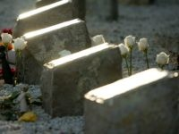 A memorial of 32 granite blocks representing each of the people killed by Cho Seung-Hui at Virginia Tech is seen April 15, 2008 in Blacksburg, Virginia. The man said he knew two of the students and one of the teachers killed in the massacre. The one-year anniversary of the worst …