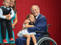 Greg Abbott at victory party