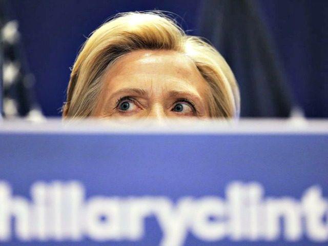 Hillary Hiding Behind Podium APDavid Goldman