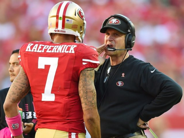 Kaepernick and Harbaugh (Thearon W. Henderson / Getty Images