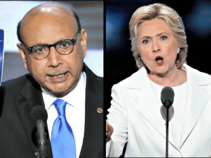 Khizr Khan and Hillary Clinton