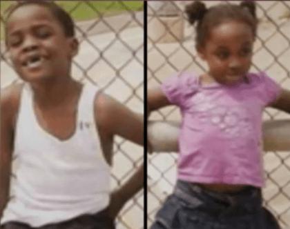 "7-year-old Orayln ""Ray Ray"" and 5-year-old Kahana Thomas (KTRK Video Screenshot)"