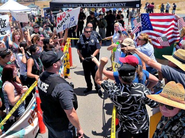 Murietta Immigration Faceoff AP
