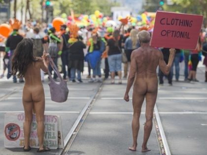 Nudists in San Francisco (Josh Edelson / AFP / Getty)