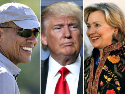 Obama, Trump, Hillary