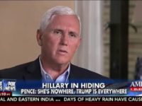 Pence: Media Parse Trump's Every Word, Ignore What Clintons Have Been Doing for Last 30 Yrs