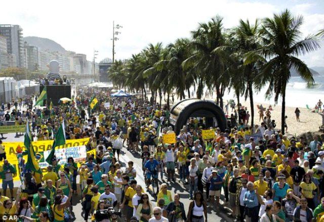 Protests at Rio Olympics AP