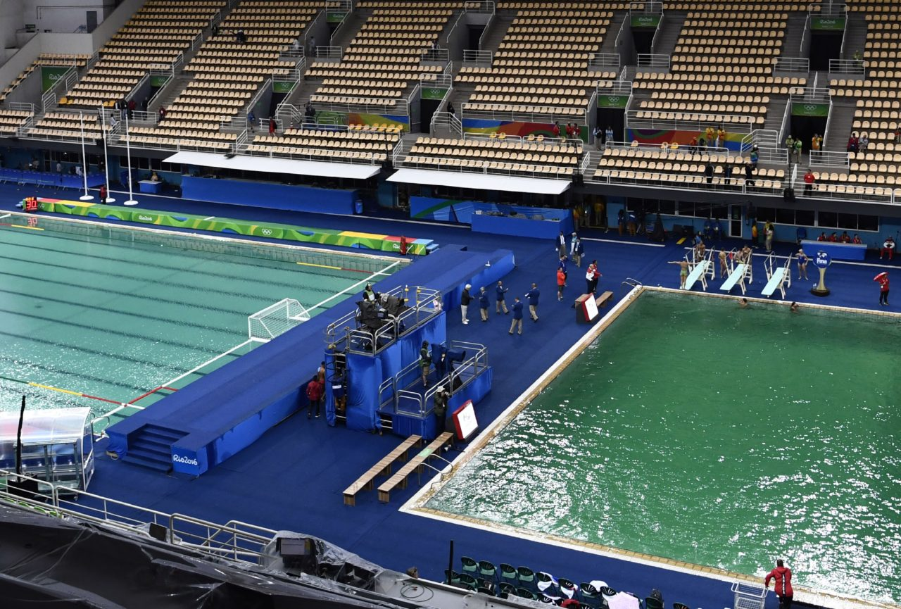 Second Rio Olympic Pool Mysteriously Turns Swamp Green Breitbart