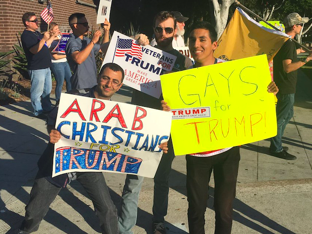 West Hollywood rally for Trump (Mike Cernovich / Breitbart News)