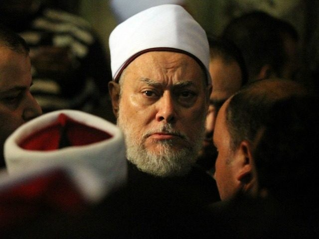 Egyptian Mufti Ali Gomaa attends the funeral of Sheikh Emad Effat at Al-Azhar Mosque in Cairo on December 17, 2011. Effat, a senior cleric in the government-run Dar al-Ifta which is the official interpreter of Islamic law, was among eight people killed during clashes between protesters and security forces. AFP …