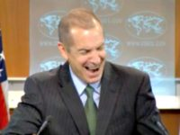St. Dept. Spox Laughing