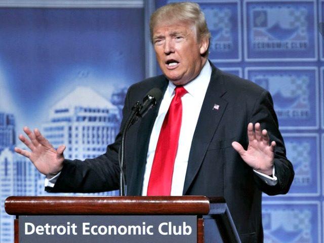 Trump Detroit Economic Club Evan VucciAP