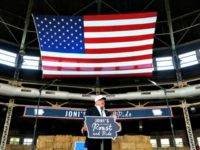 Republican presidential candidate Donald Trump speaks at Joni's Roast and Ride, a fundraiser for a PAC, at the Iowa State Fairgrounds, in Des Moines, Iowa, Saturday, Aug. 27, 2016. (AP Photo/Gerald Herbert)