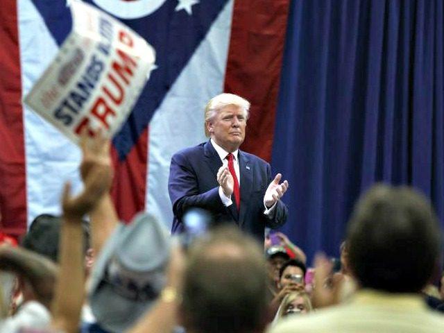 Trump Speaks, Claps AP PhotoEvan Vucci