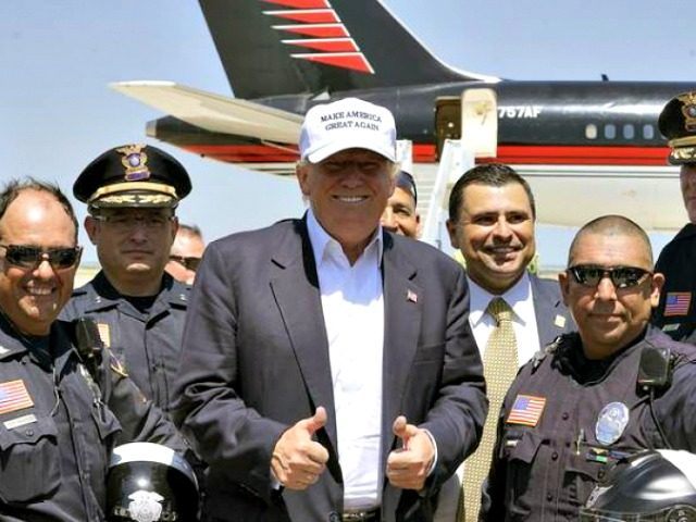 Trump with ICE Officers