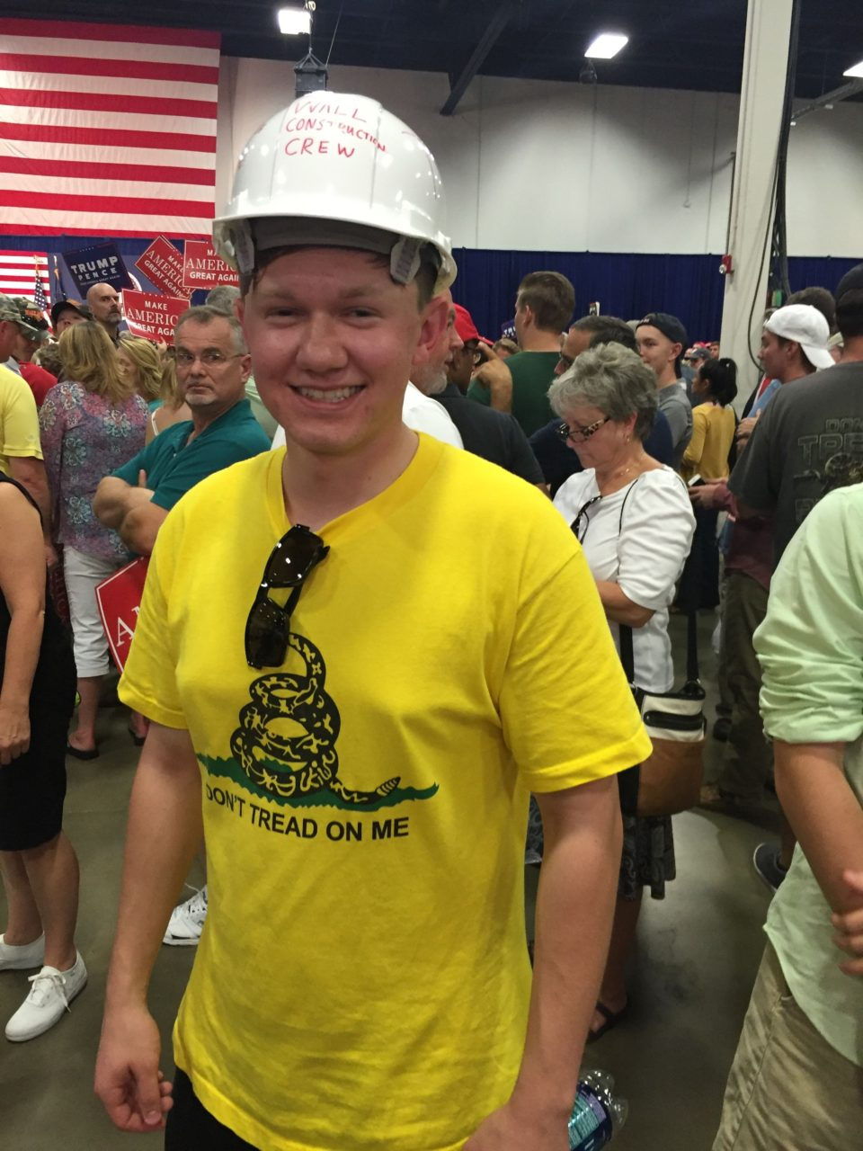 Millennial in hard hat