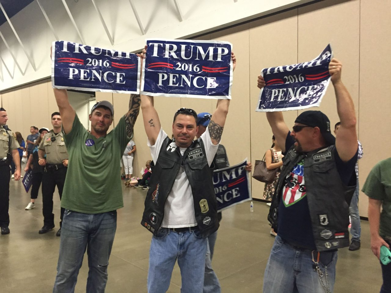 Group of Bikers for Trump