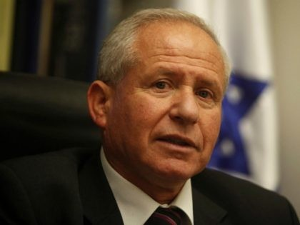 Avi Dichter, former head of Israel's Shin Beth domestic intelligence service speaks during a press conference on November 07, 2011 in Jerusalem, Israel. (Photo by Lior Mizrahi/Getty Images