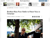 New York Times: 'Breitbart News Has Arrived'