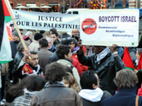 Protesters opposed to Israeli military action in the Gaza strip demonstrate on December 29, 2008, in Toulouse, southern France. Israel on Monday bombed Gaza for a third day in an 'all-out war' on Hamas, as tanks massed on the border and the Islamists fired deadly rockets in retaliation for the …
