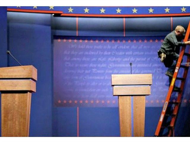 debate stage AP