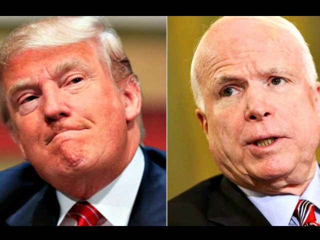 Trump and McCain collage