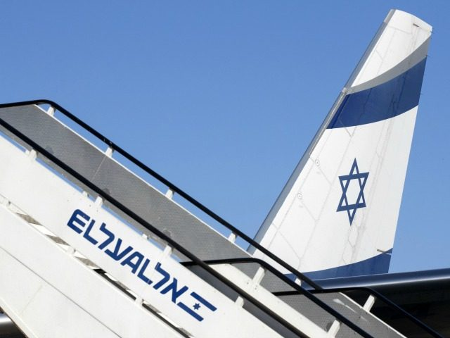 A picture taken on July 19, 2016 shows the tail of an El Al Israel Airlines' Boeing 777-258 on the tarmac at the Ben Gurion International Airport near Tel Aviv. / AFP / JACK GUEZ (Photo credit should read JACK GUEZ/AFP/Getty Images)