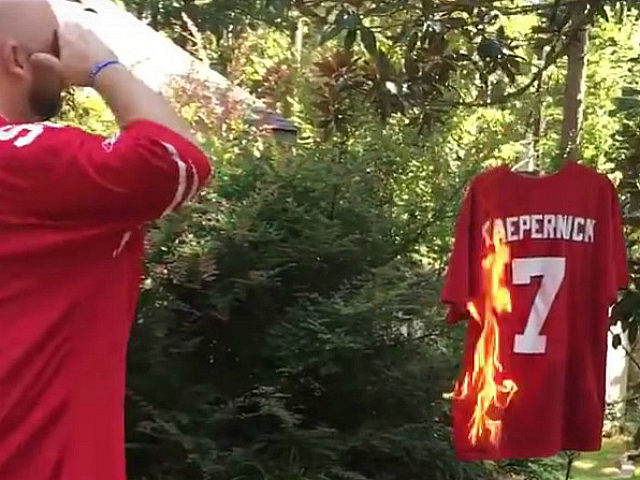 Fans Burning Colin Kapernick Jerseys After He Refused to Stand for National Anthem
