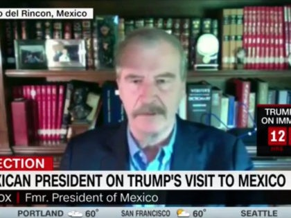 "Wednesday on CNN's ""New Day,"" former Mexican President Vicente Fox …"