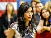 CULVER CITY, CA - JUNE 03: Huma Abedin, a political aide to Hillary Clinton, at rally organized by Women for Hillary for presidential candidate Hillary Clinton at West Los Angeles College on June 3, 2016 in Culver City, California. (Photo by Irfan Khan/Los Angeles Times via Getty Images)