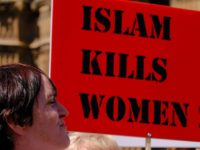 'Islam kills women' demo called by Anne-Marie Waters outside Parliament , London
