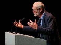 MANCHESTER, ENGLAND - JULY 23: Labour Leader Jeremy Corbyn speaks at a rally at The Lowry theatre in Salford on July 23, 2016 in Manchester, England. Mr Corbyn, who faces a leadership challenge from Labour MP for Pontypridd Owen Smith, today held the public launch of his campaign to remain Labour Leader. (Photo by Jack Taylor/Getty Images)