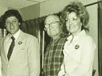1978 ?, Van Buren, Arkansas, Bill Clinton on a visit to Juanita Broaddrick's (right) nursing home