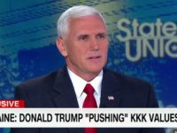 "Sunday on CNN's ""State of the Union,"" Republican vice-presidential nominee …"