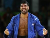 RIO DE JANEIRO, BRAZIL - AUGUST 12: Or Sasson of Israel celebrates after defeating Alex Garcia Mendoza of Cuba during the Men's +100kg Judo contest on Day 7 of the Rio 2016 Olympic Games at Carioca Arena 2 on August 12, 2016 in Rio de Janeiro, Brazil. (Photo by Ezra Shaw/Getty Images)