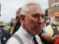 CLEVELAND, OH - JULY 18: Political operative Roger Stone attends rally on the first day of the Republican National Convention (RNC) on July 18, 2016 in Cleveland, Ohio. An estimated 50,000 people are expected in downtown Cleveland, including hundreds of protesters and members of the media. The convention runs through …